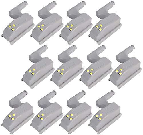 COSORO - Lot de 12 lampes LED à charnière avec capteur pour salon, chambre, armoire, placards de cuisine