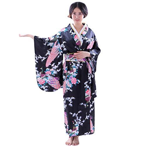MAWOLY Damen Oberteile Sommer Kleid Drucken Lose Japanisch Kimono Performance Kleidung Robe Traditionell Fotografie Cosplay Kostüm
