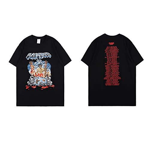 NAGRI Men's Playboi Carti Tour Vintage T Shirt Rap Music Hip-Hop Tee White Black