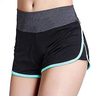 Women Sports Shorts Gym Workout Waistband ny Yoga Shorts Summer Jogging Trouser:L, S