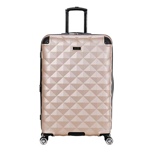 Kenneth Cole Reaction Diamond Tower Luggage Collection Lightweight Hardside Expandable 8-Wheel Spinner Travel Suitcase, Rose...