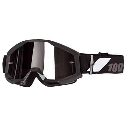 Gafas unisex de motocross, para adulto, Negro, Plateado (Black,Mirror Silver), Una talla