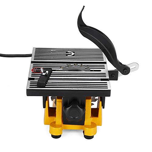 Futchoy - Sierra de banco de precisión multifunción con hoja de sierra mini para mesa, sierra circular de mesa, herramienta de corte 4500 rpm