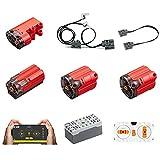 Bulokeliner Juego de funciones de potencia técnica, juego de motores Servomotor con aplicación, tecnología RC Superstrong Motor Power Set, compatible con Lego Technic