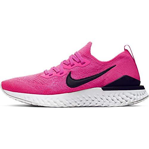 Nike Epic React Flyknit 2 Women's Running Shoe Pink Blast/Black-White Size 7.5