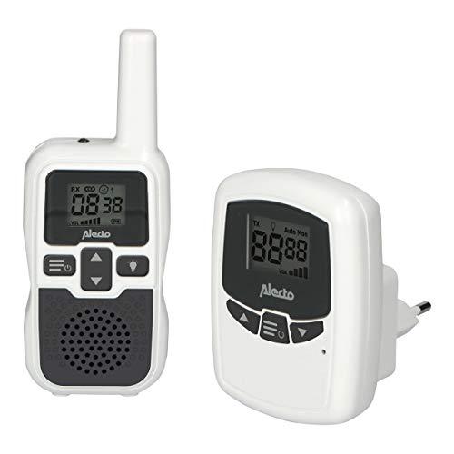Alecto bébé DBX80 Vigilancia de largo alcance - Monitor bebe alcance de hasta 3.000 metros - Con largo tiempo de espera (hasta 9 horas) - VOX - Sensibilidad ajustable - Ampliable - Blanco