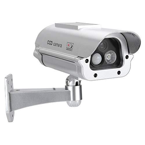Cámara simulada, Cámara de Seguridad de vigilancia con CCTV/Sensor Humano/Luces de Destello de imitación de IR/de Interior/Falso Alimentado con energía Solar