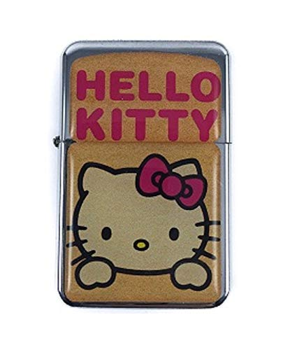 Feuerzeug Star Hello Kitty Windproof nachfüllbares Flip-Top