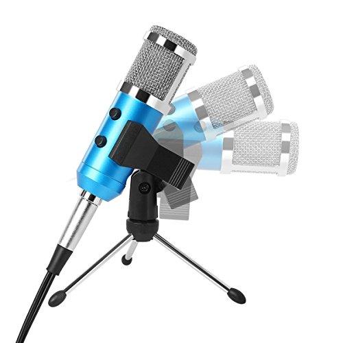 Tonor Micrófono Condensador Jack 3.5mm con soporte