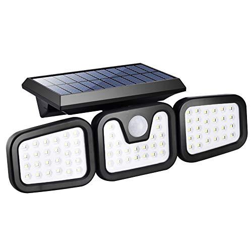CALISTOUK Foco solar LED, Luz Solar Exterior, Foco Solar con Sensor de...