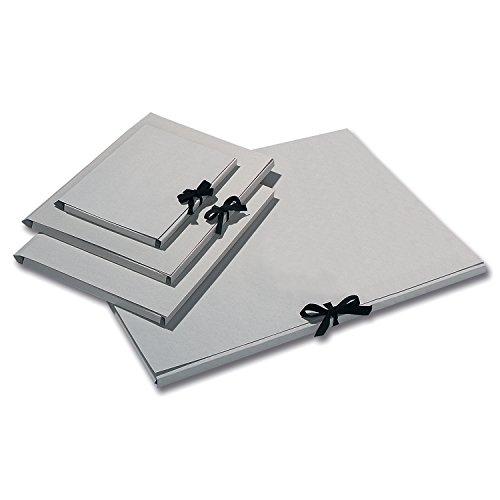folia Sammelmappe, Graupappe 500g/m², Farbe:grau, Größe:DIN A4 mit Band (10 Stück)