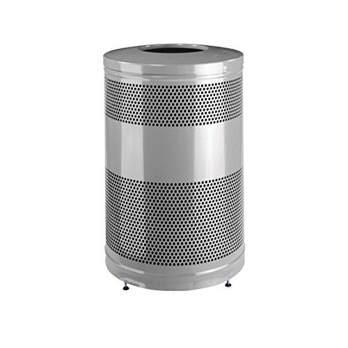 Rubbermaid Commercial Classic Trash Can, 51 Gallon, Silver Metallic, FGS55ETSMPLBK