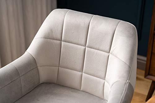 Keebgyy Juego de 2 sillas de comedor tapizadas con respaldo, asiento de terciopelo y patas metálicas