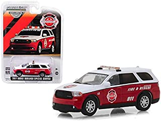 DIECAST 1:64 Hobby Exclusive - 2017 Dodge Durango Special Service Vehicle - FIRE & Rescue (White/RED) 29996 by Greenlight