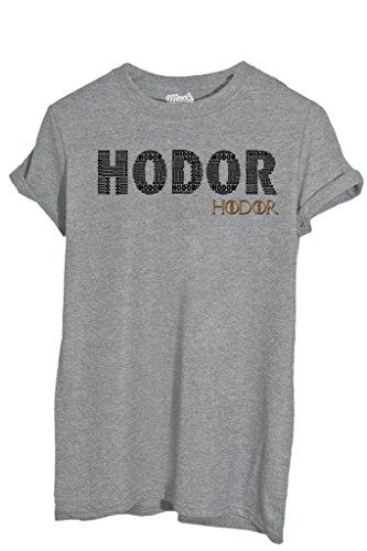 iMage T-Shirt Hodor Game of Thrones - Film - Bambino-L-Grigio Sport
