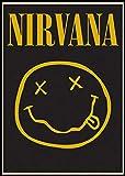 BLOUR Póster de música Retro Kurt Cobain Nirvana Leader Rock Retro Papel Kraft póster Bar Oficina Café hogar Arte Pared Pegatina