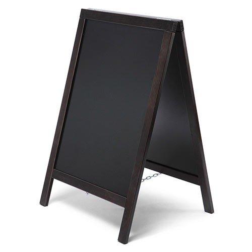 net-xpress Kundenstopper Holz außen für Gastro, schwarz, 55x85, Kundenstopper Tafel Restaurant Bistro Cafe Gastronomie