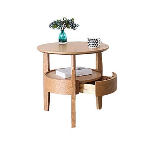 table basse Côté Salon en bois massif de style nordique Simplicité moderne Chevet créatif Petite table basse (Couleur : B, taille : 58cm*60cm)