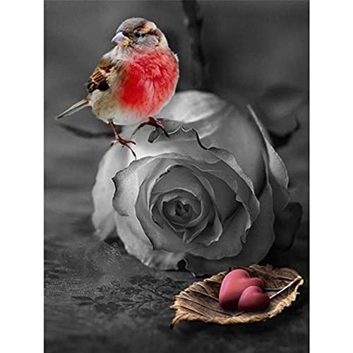 GHJGHJ Diamante Pintura Rosa Flores Imagen Bordado Punto de Cruz Mosaico Taladro Completo de la decoración de la casa Pegatinas de Pared Regalo Hecho a Mano (Color : 267, Size : Round Drill 20X25cm)