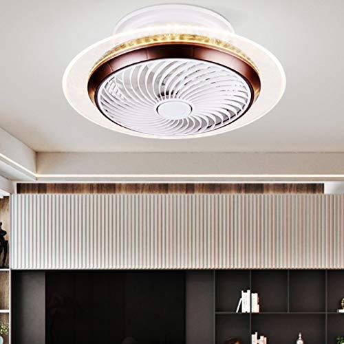 JAKROO Ventilador de Techo con Luces, Remotote-Control, Luces de Techo Modernas Dimmable 45W, luz de Ventilador para Sala de Estar, Dormitorio