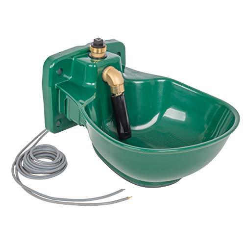 VOSS.farming beheizte Tränke Thermo P25-24V, 30 Watt, 24V, automatisches Thermostat, Spezialkunststoff, Frostschutz Pferd Rinder Pferdetränke Rindertränke Selbsttränke