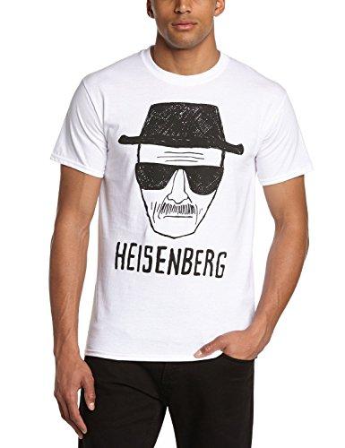 Coole-Fun-T-Shirts Herren Heisenberg Zeichnung-Breaking Bad T-Shirt, Weiß, S