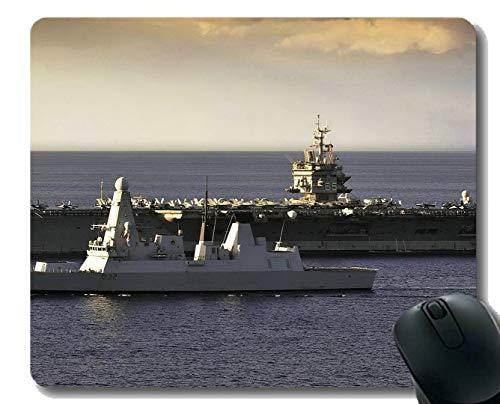 Yanteng Almohadilla para ratón con Borde Cosido, portaviones CVN 65 HMS Atrevido USS Enterprise Mouse Mat, Base de Goma Antideslizante, Alfombrilla de ratón