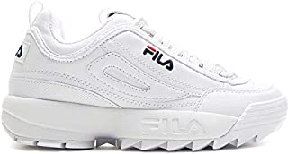 FILA UNISEX DISRUPTOR SNEAKER SHOES - WHITE
