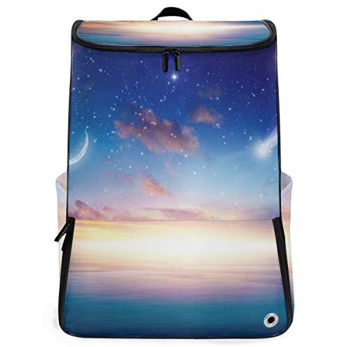 YUDILINSA Viaje Mochila,Increíble fondo celestial Hermosa puesta de sol brillante,Universitaria Mochila,Laptop Backpack con Compartimento para zapatos