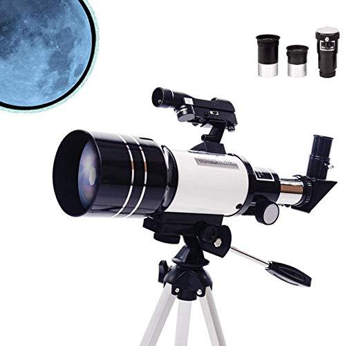 Telescopio para Niños para Principiantes En Astronomía, Telescopio De Viaje Refractor Portátil De 70 Mm para Acampar, Ideal para Que Los Niños Exploren El Espacio Moon Star