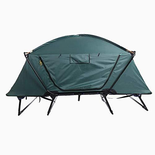 LYDIANZI Tent Folding 2 Person Wandern Erhöhte Camping-Zelt, Regenschutz und atmungsaktiv Dachzelt Camping-Zelt mit feuchtigkeitsfest Pad, Schlafsack, aufblasbares Kissen