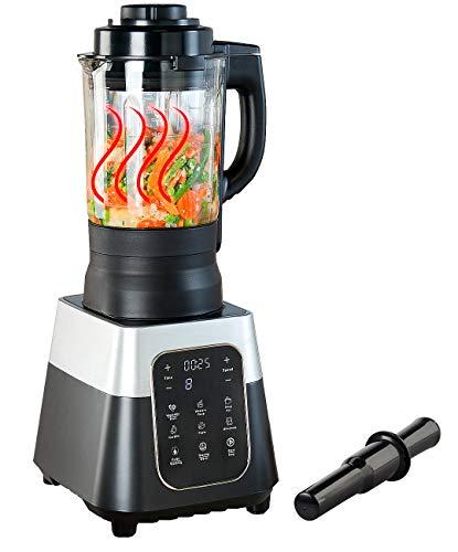 Rosenstein & Söhne Sojamilchbereiter: Profi-Standmixer mit Wärme-Funktion, Touch-Tasten, 1,75 l, 1.500 Watt (Hochleistungsmixer)