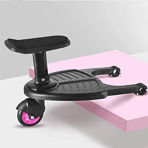 Tout-petits Poussette Conseil fixation pour Buggys et landaus avec siège et stand, BuggyBoard Mini, Universal Board, idéal pour les petits Strollers- amovible et Rose Assembling