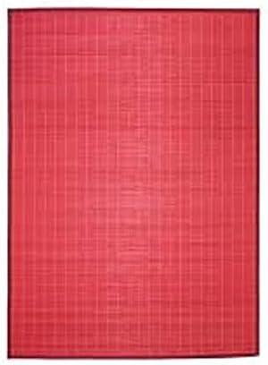 MonBeauTapis 165242 Bali Chic Tapis Bambou Rouge 230 x 160 cm