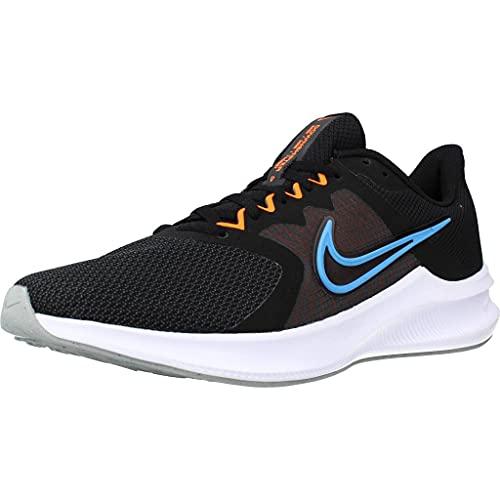 Nike Downshifter 11, Zapatillas de Correr Hombre, Multicolor (Black Coast Total Orange Dk Sm), 42.5 EU
