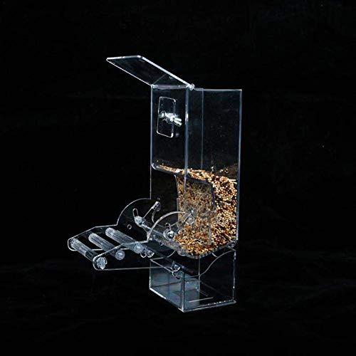 鳥 自動給餌器 鳥用フードフィーダー 餌やり 餌入れ 給餌機 DIY アクリル材料 自分で組み立て 自動餌与え 透明容器 小型動物 文鳥 鳥かご汎用 掛ける 食べ殻の防止
