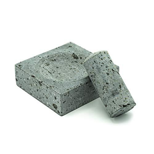 Mortar And Pestle Etna Stone & Design Mortier et Pilon en pierre de lave Ustensile pour votre cuisine