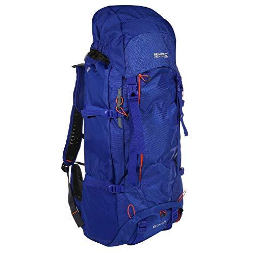 Regatta Blackfell 3 Expandable Reflective Hardwearing Travel Hiking, Surfspray/Blaze, 60 + 10 Litre