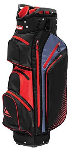Longridge Bolsa para Carrito de Golf, Color Negro y Rojo