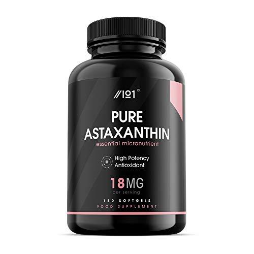 Astaxanthin Softgel - 18 mg - hochwirksame Antioxidans - 180 Softgelkapseln - ohne Zusatzstoffe - gentechnikfrei - glutenfrei