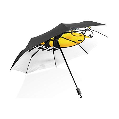 Paraguas a Prueba de Viento Niños Little Cute Bee Insectos voladores Paraguas...