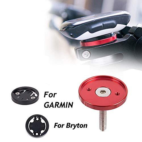 CYSKY Garmin Edge Mount, Fahrradvorbau-Halterung für Garmin Bryton Radfahren GPS Computer, passend für Garmin 1000,820,810,800, 520,510,500,200 und Bryton 530 330 310 100 (Schwarz) - 4