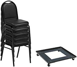 Norwood Commercial Furniture 250 Series Stack Chairs & Dolly Package, NOR-NCFDSC2BLBLV-DY81-PK (24 Chairs w/ 1 Dolly)