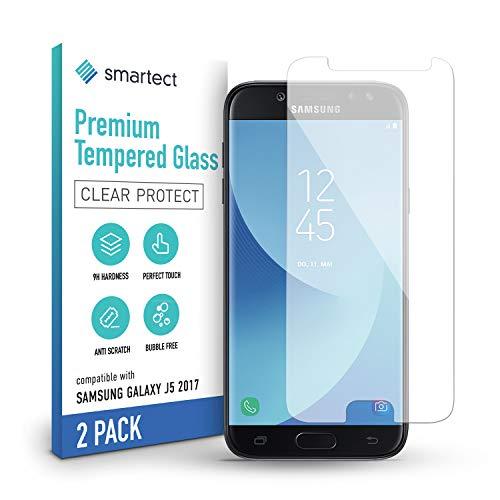 smartect Pellicola Protettiva per Samsung Galaxy J5 2017 [2 Pezzi] - 9H Vetro Temperato – Design Ultra Sottile – Applicazione Anti-Bolle – Anti-Impronte