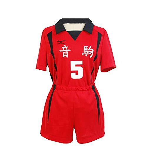 hengGuKeJiYo Haikiyu Volleyball Team Trikot Sportswear Uniform, Nekoma High School # 5# 1 Kenma Kozume Kuroo Tetsuro Cosplay Kostüm