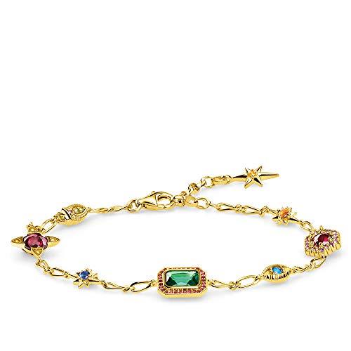 Thomas Sabo Damen-Armband Glücksbringer gold 925 Sterlingsilber gelbgold vergoldet A1914-973-7-L19v
