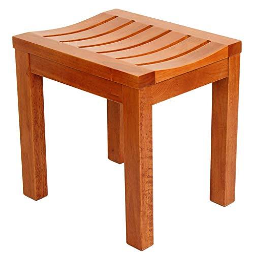 De baño, silla de ducha impermeable de madera de caucho |Ayuda para el baño |Seguridad en la bañera antideslizante |para discapacitados, personas mayores, bariátricas, 42 y veces; 34 y veces; 3