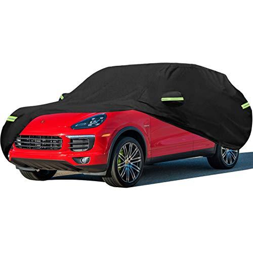 Autoabdeckung Kompatibel mit Porsche Cayenne SUV [S/Turbo/Turbo S/GTS], E-Hybrid/Coupé/Hybrid, Verdicken Autoabdeckplane Autogarage Ganzgarage Wasserdicht Sonnenschutz Vollgarage Autoplane Regenschutz