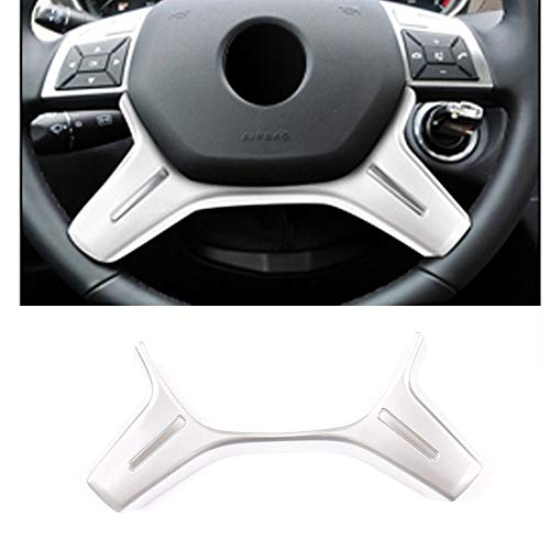 for Mercedes Benz C Class W204 C180 C200 2011 2012 2013 Car ABS Steering Wheel Decoration Frame Cover Trim E ML GL Class W212 X166 W166 Matte Silver