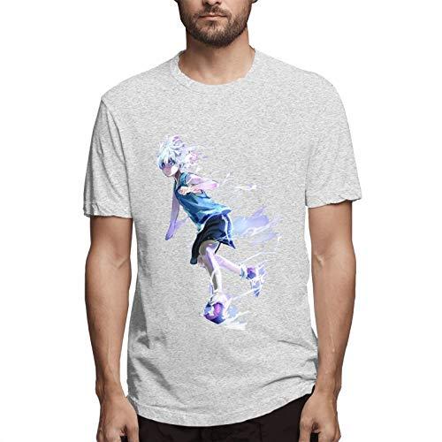 Hunter X Hunter Men's Short Sleeve T-Shirt Fashion Printed Casual Short Sleeve Cotton Gray M